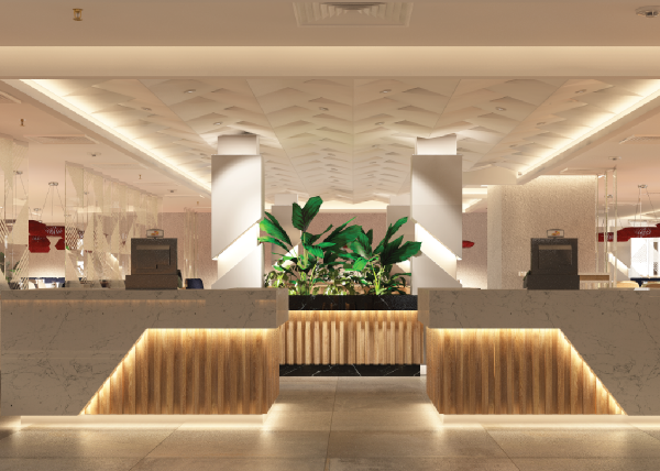 Hospital Food Court design